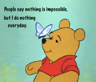winnie the pooh doing nothing