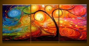 schilderij kleuren abstract