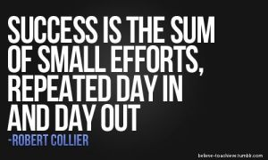 succes is the sum of small efforts