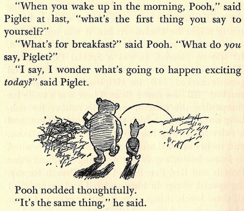 pooh ontbijt exciting