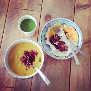 soep + smoothie + eitjes